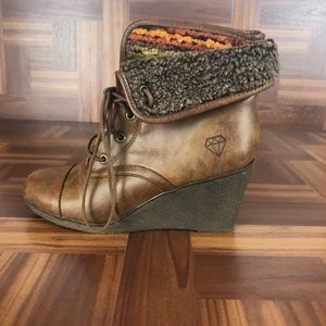 ROCK & CANDY SABRA Wedge Heel Ankle Boots
